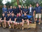 De La Salle Year 12 VCAL Enterprise Class receive funding for a new garden space