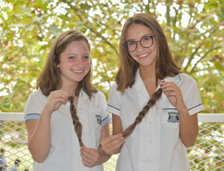 Moriah students cut their hair for kids with cancer